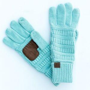 C.C Mint Ribbed Gloves